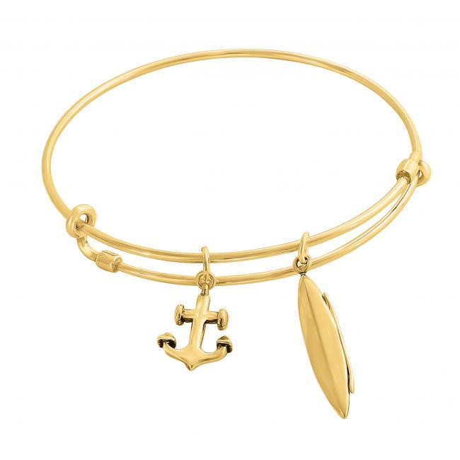 Gold plated bracelet Kayaking Adjustable Wire Bangle