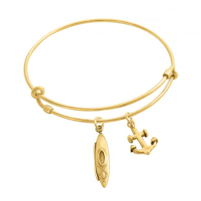 Gold plated bracelet Kayaking Adjustable Wire Bangle
