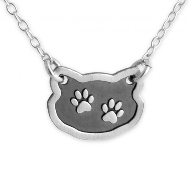 925 sterling silver necklace Dog/ Cat Paw Prints