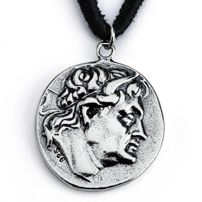 925 sterling silver necklace Replica King Demetrius I of Macedon Ancient COIN