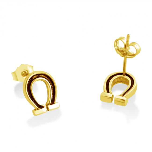 Gold plated earrings Horseshoe