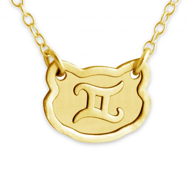 Gold plated necklace Gemini Zodiac Sign