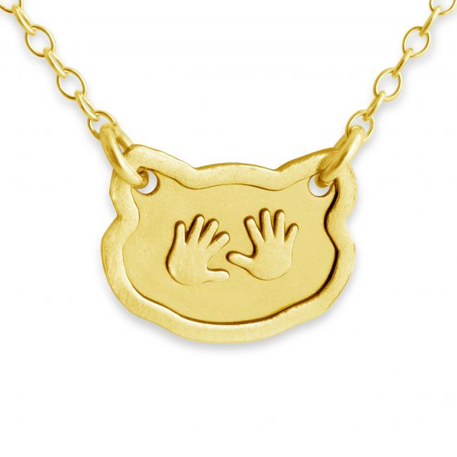Gold plated necklace Baby Hands