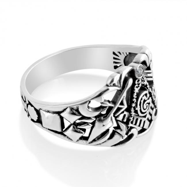 925 sterling silver ring Freemason