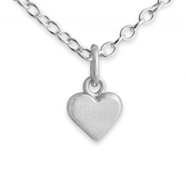 925 sterling silver necklace Tiny Heart
