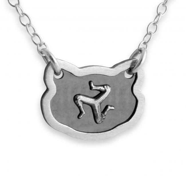 925 sterling silver necklace Feline Isle of Man