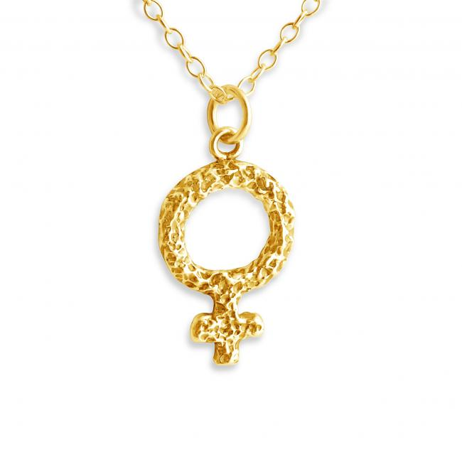 Gold plated necklace Venus Symbol