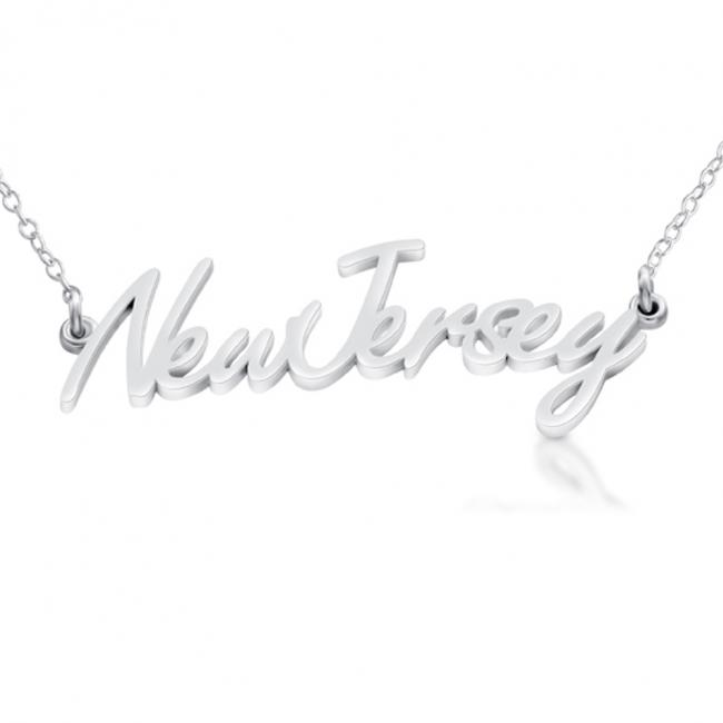 925 sterling silver necklace New Jersey State