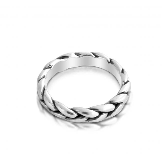 925 sterling silver ring Thick Braided Ring