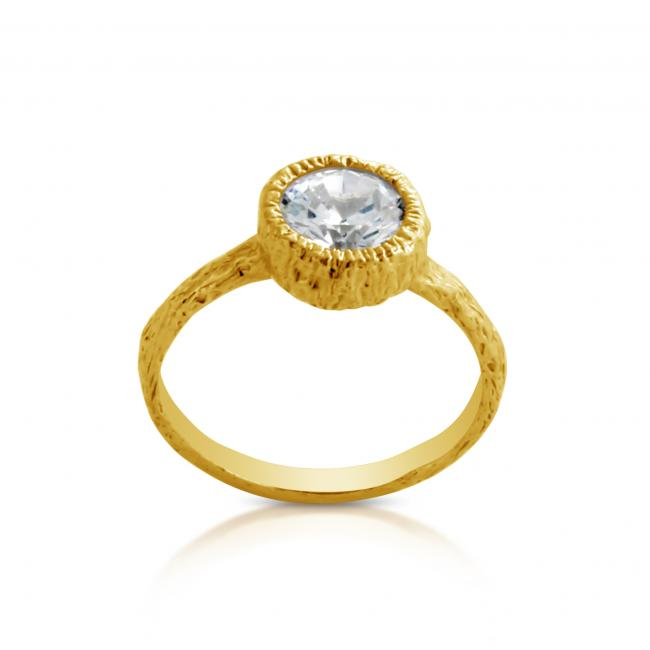 Gold plated ring Ring w/ CZ