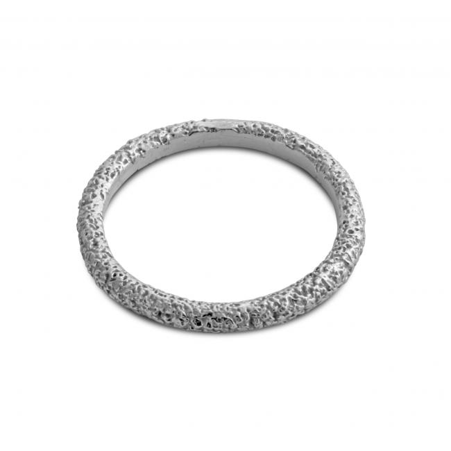 925 sterling silver ring Textured Stackable Ring