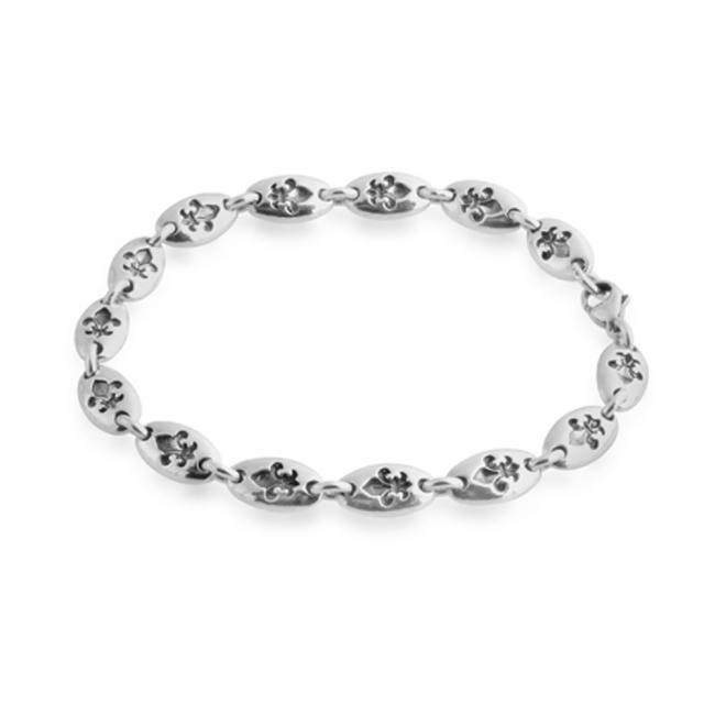 925 sterling silver bracelet Fler de Lis Chain