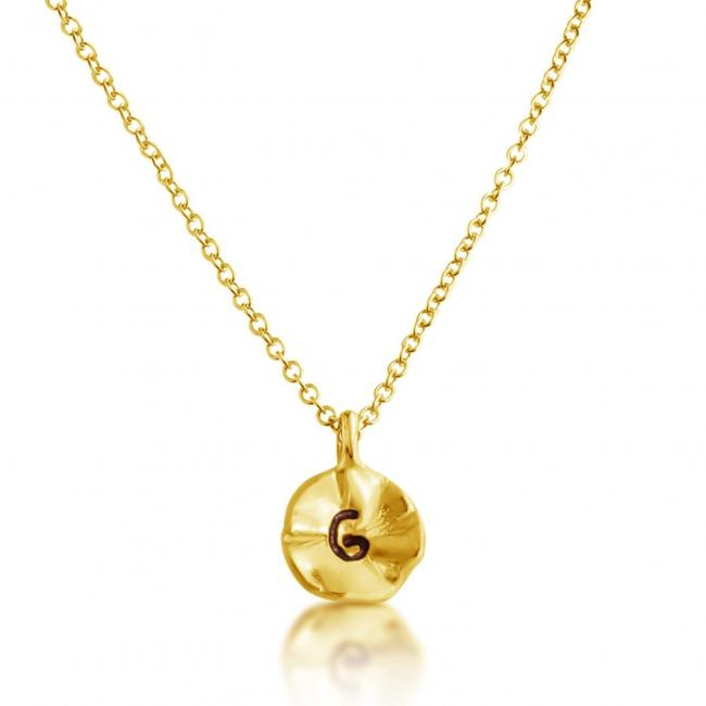 Gold plated necklace Letter G Passion Initial
