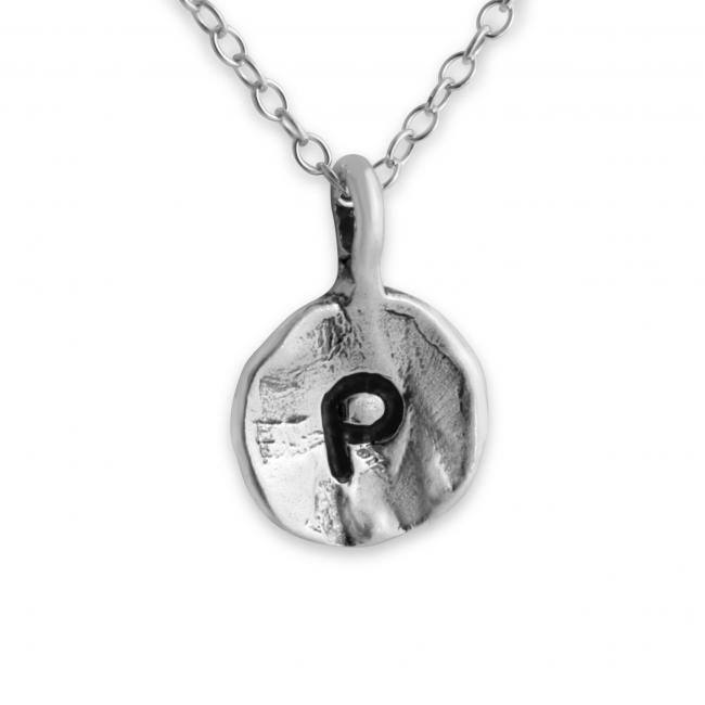 925 sterling silver necklace Letter P Passion Initial