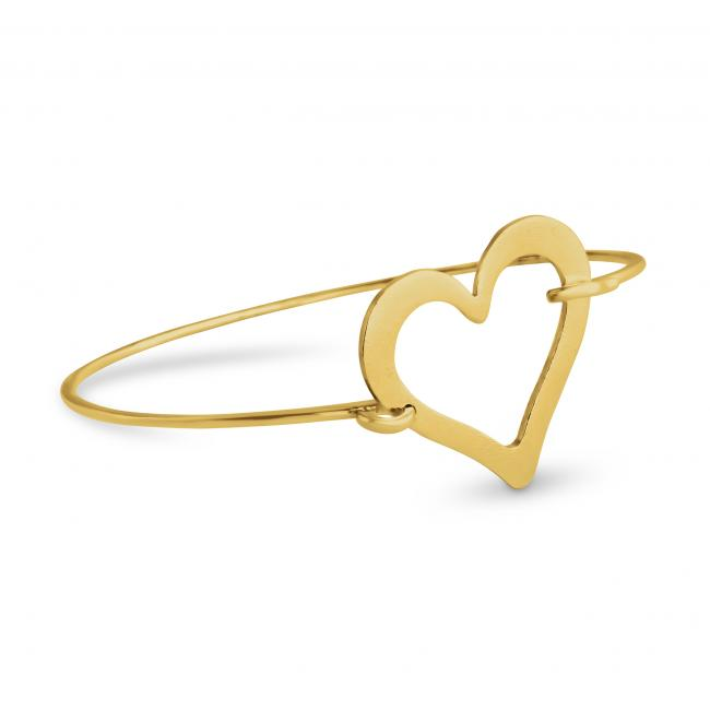 Gold plated bracelet Large Heart