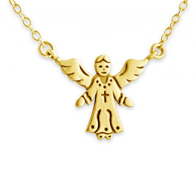 Gold plated necklace Angel Jump Ring Necklace