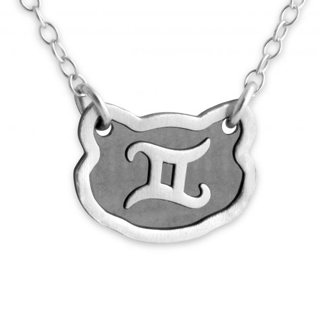 925 sterling silver necklace Gemini Zodiac Sign