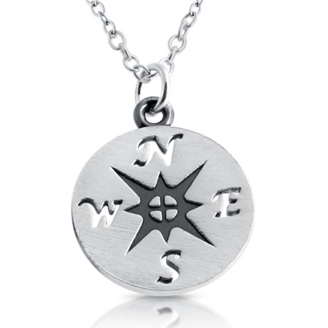 925 sterling silver necklace Nautical Compass