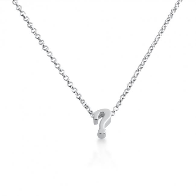 925 sterling silver necklace Initial Letter ? Personalized Symbols & Letters Serif Font