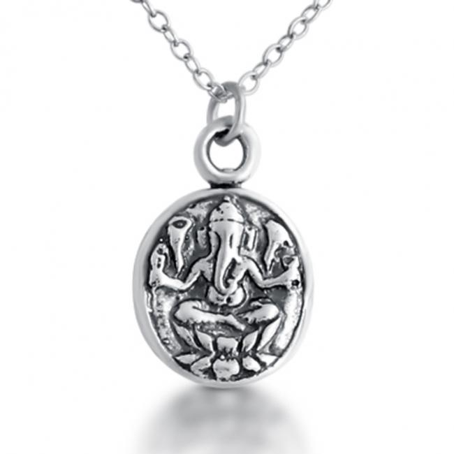 925 sterling silver necklace Ganesha Hindu Elephant God Religious Spiritual