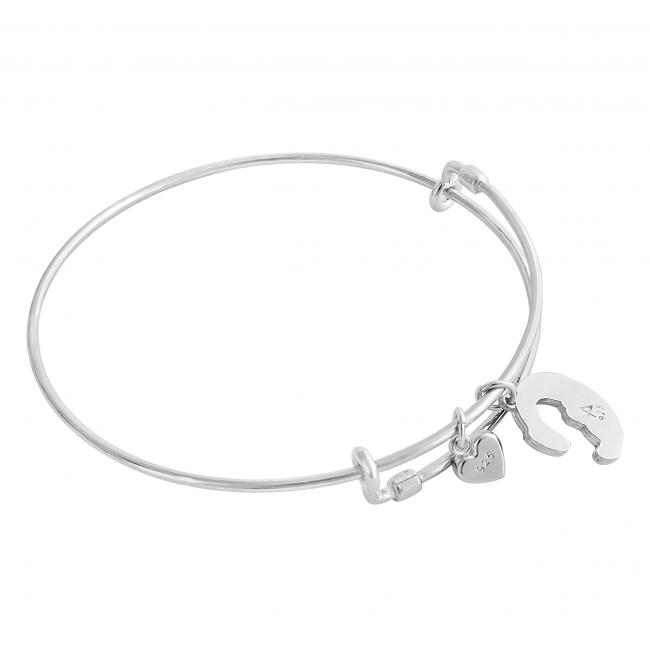 925 sterling silver bracelet All About You Adjustable Wire Bangle