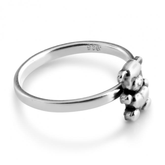 925 sterling silver ring Teddy Bear