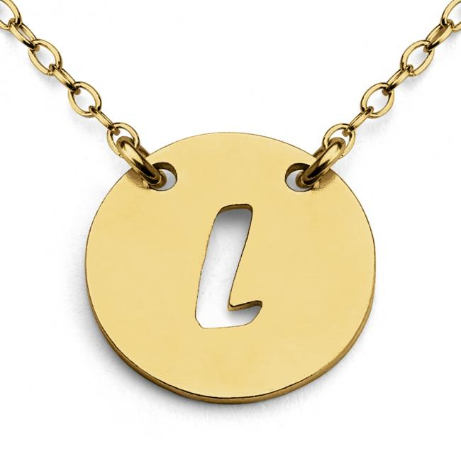 Gold plated necklace L Open Letter