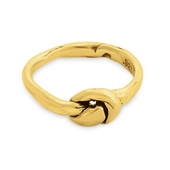 Gold plated ring Sailor's Knot Ring
