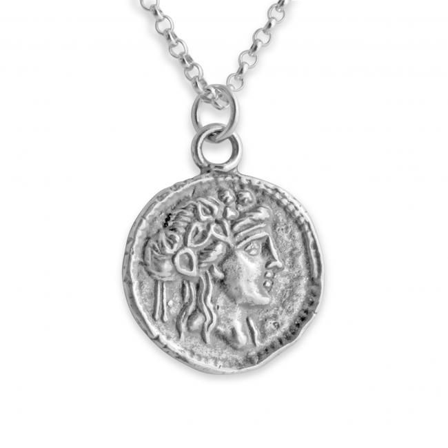 925 sterling silver necklace Athena Greek Goddess Ancient COIN
