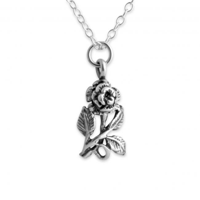 925 sterling silver necklace Rose