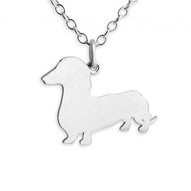 925 sterling silver necklace Dachshund (Silhouette)