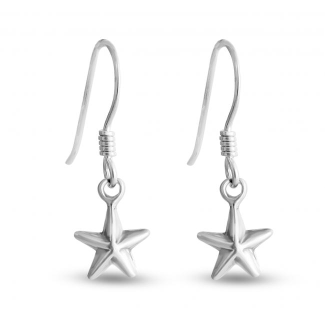 925 sterling silver earrings Nautical Star