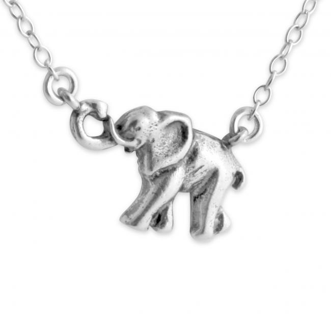 925 sterling silver necklace Marching Elephant Jump Ring Necklace