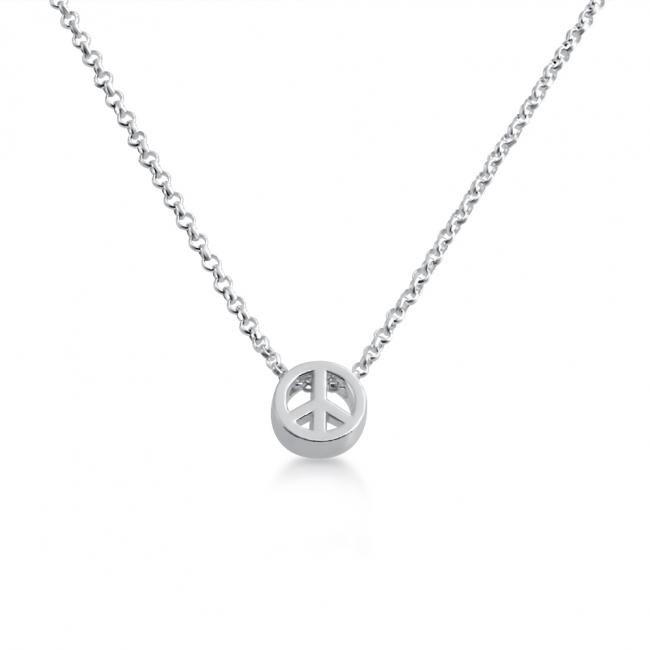 925 sterling silver necklace Initial Letter Peace Personalized Symbols & Letters Serif Font