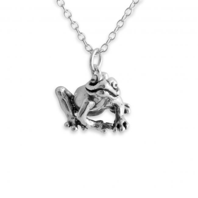 925 sterling silver necklace Happy Frog