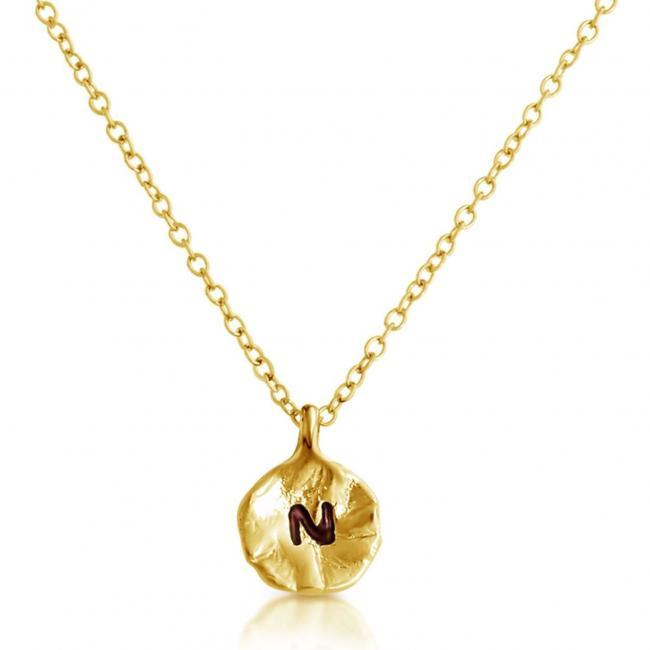 Gold plated necklace Letter N Passion Initial