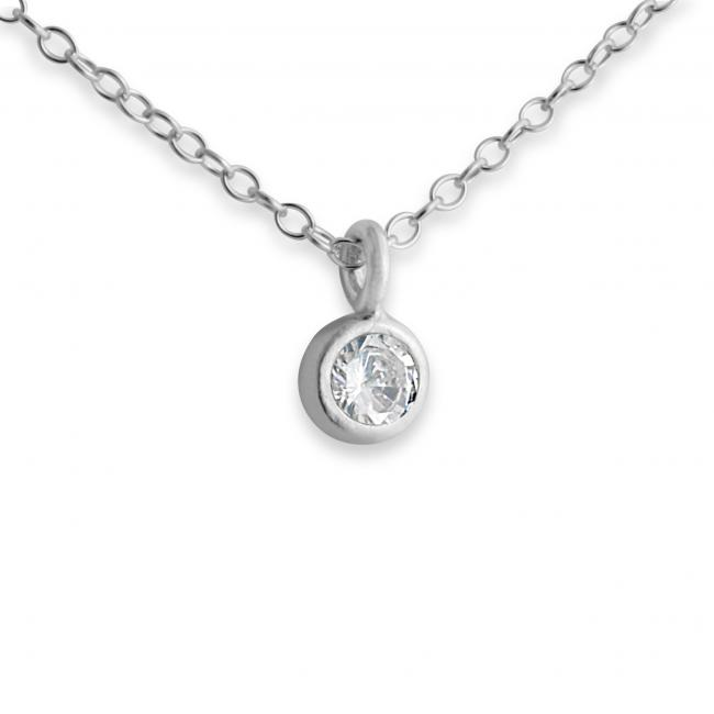925 sterling silver necklace Cubic Zirconia