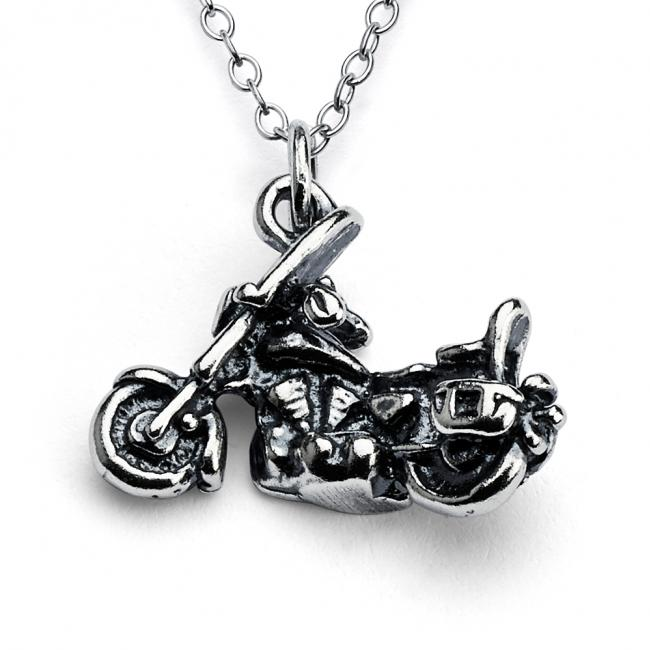 925 sterling silver necklace Motorcycle Harley Style
