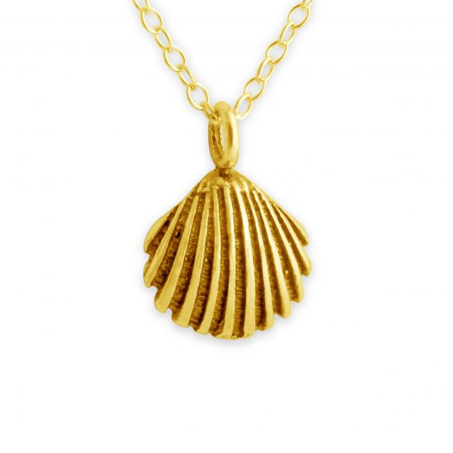 Gold plated necklace Sea Shell