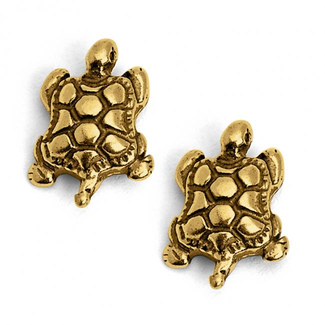 Gold plated earrings Tortoise/ Turtle