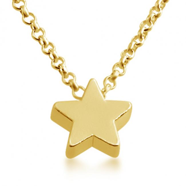 Gold plated necklace Initial Letter Star Personalized Symbols & Letters Serif Font