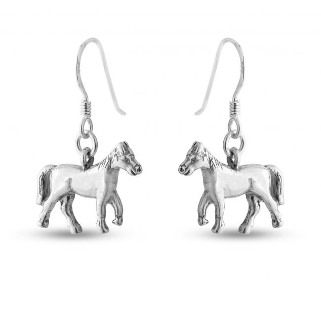 925 sterling silver earrings Trotting Horse