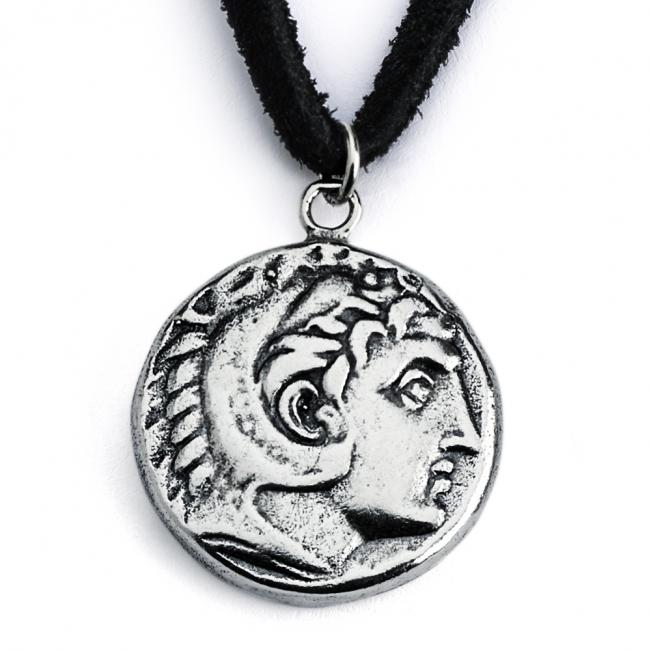 925 sterling silver necklace Replica King Alexander the Great Ancient COIN
