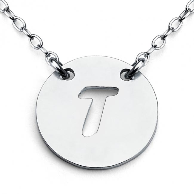 925 sterling silver necklace T Open Letter