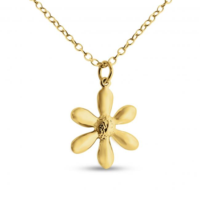Gold plated necklace Daisy Flower
