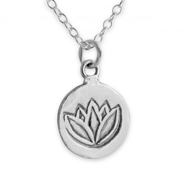 925 sterling silver necklace Lotus Flower Medallion