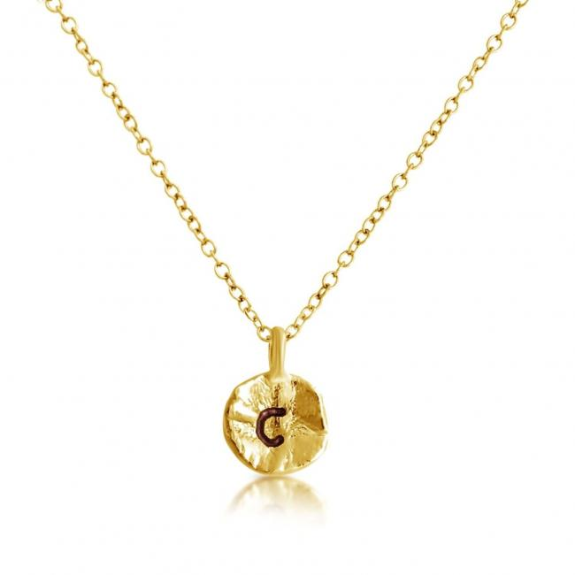 Gold plated necklace Letter C Passion Initial