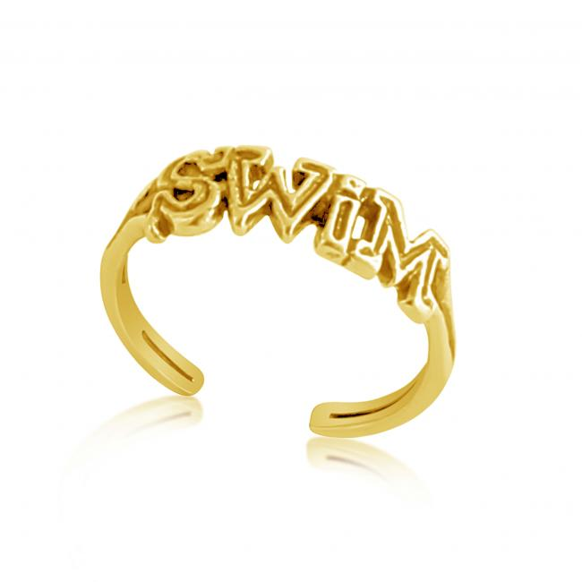 Gold plated ring SWIM Adjustable Toe Ring