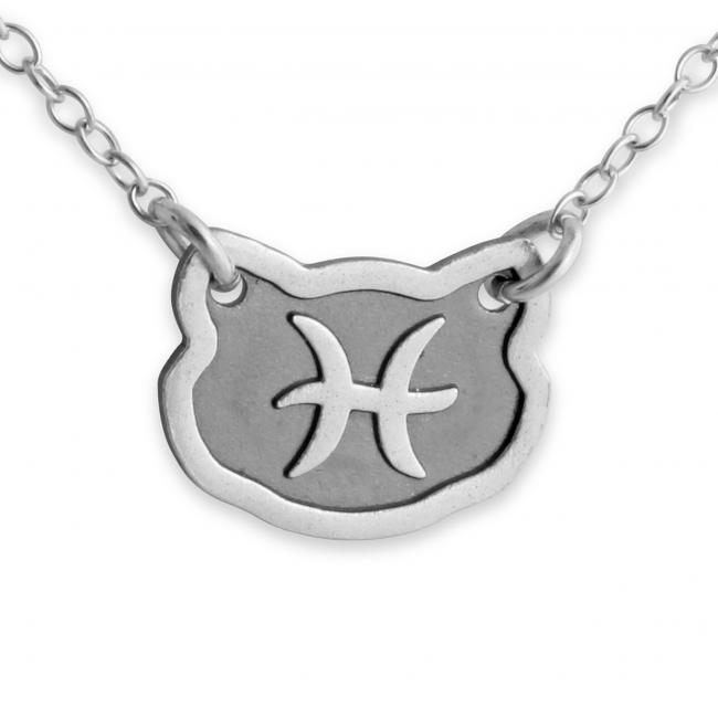 925 sterling silver necklace Pisces Zodiac Sign