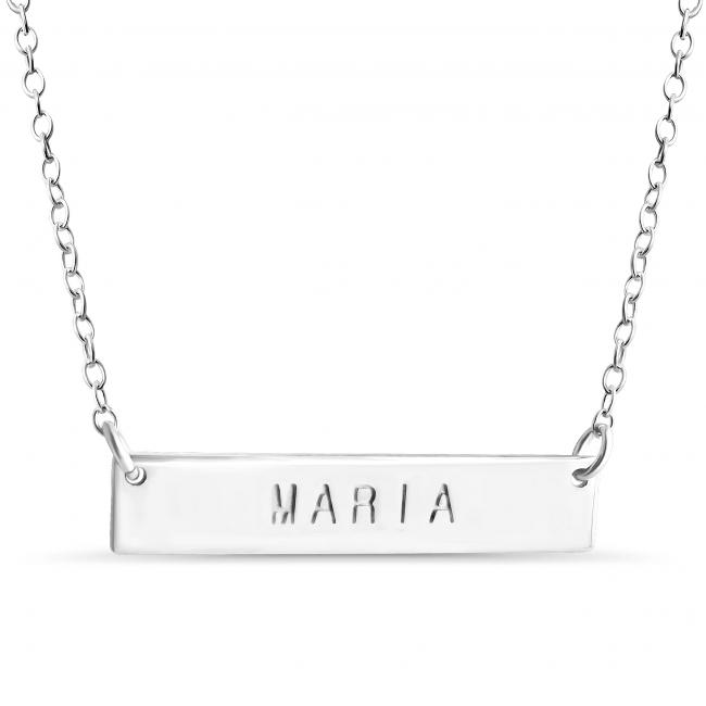 925 sterling silver necklace Name Bar Maria